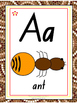 Australian Aboriginal Alphabet Chart, letter tracing and S