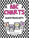 ABC Charts - Black and White Polka Dots