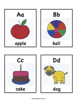 ABC Charts. Large Poster Size and Mini Size Included. A KBound Original!