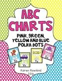 ABC Charts - Polka Dots - Pink, Blue, Green and Yellow - C