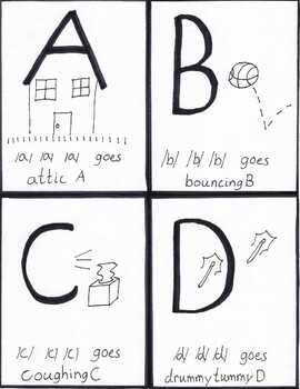 ABC Cheers Black and White Flash Cards
