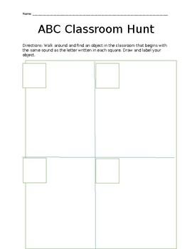 ABC Classroom Hunt