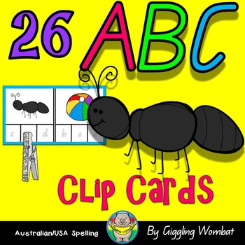 Alphabet ABC Clip Cards