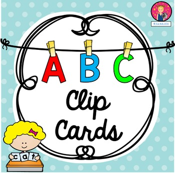 ABC Clip Cards for Kindergarten {4 Different Versions}
