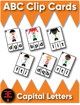 ABC Clip Cards (Capital)