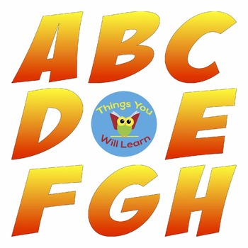 ABC Clipart Yellow-Orange
