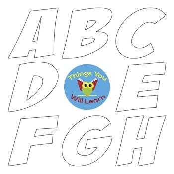 ABC Clipart Black-line Transparent