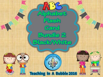 Alphabet Poster Bundle Black and White Flashcard