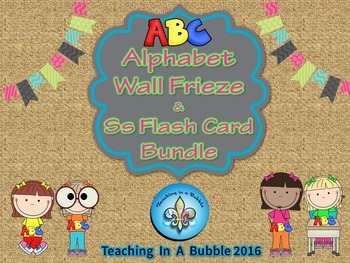 Alphabet Poster Display and Student Flash card Bundle
