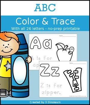 ABC Color & Trace Pages