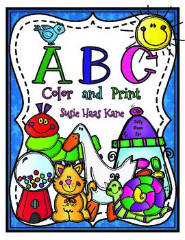 Kindergarten ABC Color and Print
