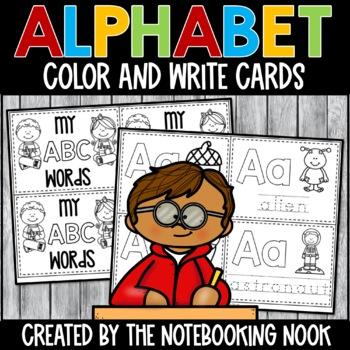 Alphabet Color and Write Cards