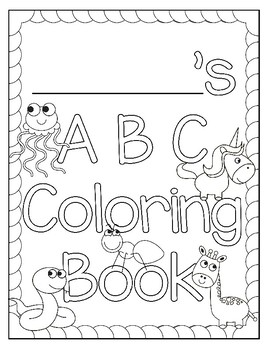 ABC Coloring Book by Teacher Coloring Store | Teachers Pay Teachers