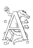 ABC Coloring Book 58 pages