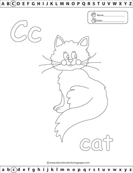 ABC Coloring Book -  Alphabet Set 1