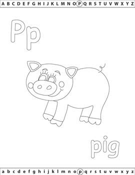 ABC Coloring Book -  Alphabet Set 1