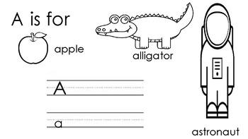 ABC Coloring Book for Kindergarten, First Grade