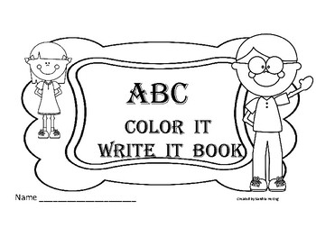 ABC Coloring Book with Spaces to Write the Letters - Kindergarten and 1st  Grade
