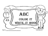 Back to School Practice  - ABC Coloring Book with Spaces t