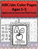 ABC Coloring Worksheets & Flash Cards B&W (Priscilla Beth