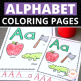 Alphabet Coloring and Activity Pages   No-Prep ABC Letter Practice Pages
