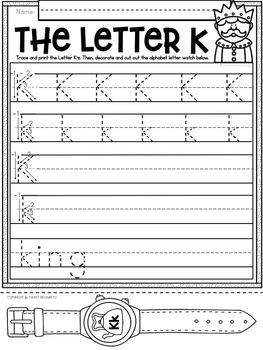 Alphabet Letter Of The Week K