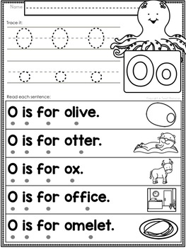 Alphabet Letter Of The Week O