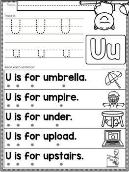 Alphabet Letter Of The Week U