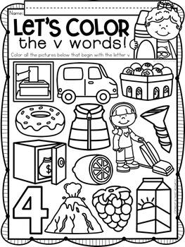 Alphabet Letter Of The Week V