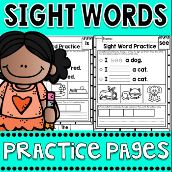FREEBIE Sight Words Fluency and Word Work Practice Pages