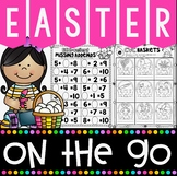 Easter On The Go Kindergarten No Prep Printables