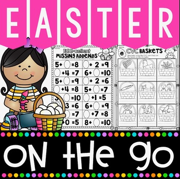 Easter On The Go Kindergarten No Prep Printables