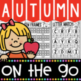 1 Fall Math and Literacy No Prep Printables for Kindergarten | Apples! Pumpkins!