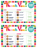 ABC Cookie Thank You Order Printable Download Girl Scout I