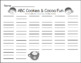 ABC Cookies & Hot Cocoa Fun
