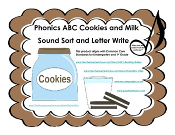 ABC Cookies and Milk                Sound-Letter Sort and Letter Write