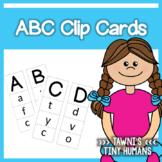 Alphabet Clip Cards - Upper and Lowercase
