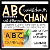 ABC Countdown Chain- End of the Year Celebration