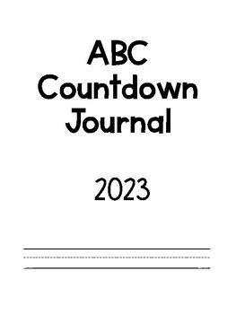ABC Countdown Journal
