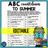 EDITABLE ABC Countdown to Summer