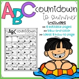 Digital and Editable ABC Countdown to Summer