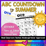 ABC Countdown to Summer HUGE Idea List and EDITABLE Calendar!