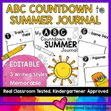 ABC Countdown to Summer EDITABLE Journal   Distance Learning