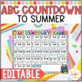 Editable ABC Countdown to Summer
