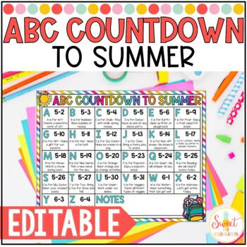ABC Countdown to Summer {Freebie}