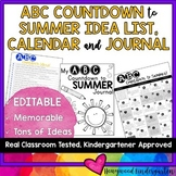 ABC Countdown to Summer HUGE Idea List, EDITABLE Calendar & EDITABLE Journal!