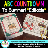 ABC Countdown - Memory Book, Posters, Crowns & More {EDITABLE}