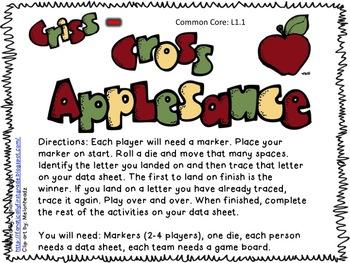 ABC Criss-Cross Applesauce Common Core Game