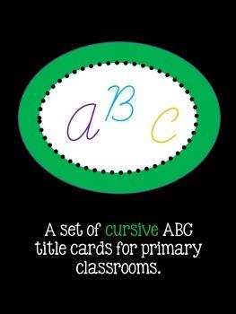 ABC Cursive Title Cards