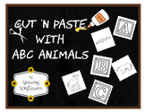 ABC Cut N Paste with Animals Through the Alphabet Phonics